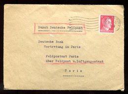 Enveloppe Commerciale De Strasbourg Pour Paris En 1942 - N170 - Marcofilia (sobres)