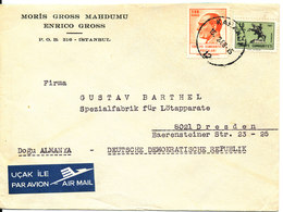 Turkey Cover Sent Air Mail To Germany DDR 15-2-1968 - 1921-... Republic