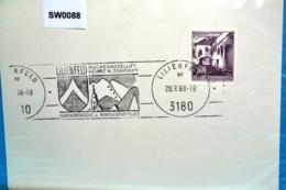 SW0088 Muckenkogellift, Sessellift, Mathias Zdarsky, 3180 Lilienfeld AT 20.8.68 - Marcophilie - EMA (Empreintes Machines)