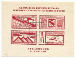 H721 - Bloc De 4 VIGNETTE EXPOSITION D' AEROPHILATELIE ET DE TIMBRES POSTES MAI 1932 + DAGUIN - - 1921-1960: Période Moderne