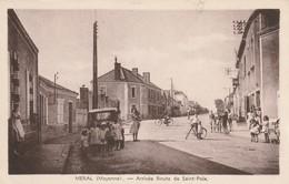 53 -Très Belle Carte Postale Ancienne De  Méral   Arrivée Route De Saint Poix - Frankreich