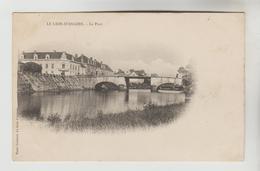 CPA PIONNIERE LE LION D'ANGERS (Maine Et Loire) - Le Pont - France