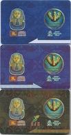 Lot De 3 Cartes De Membre Casino Macau Macao : Landmark Pharaoh's Palace & Babylon - Cartes De Casino