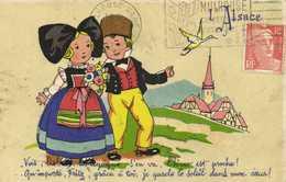 Illustrateur L'Alsace Enfants RV Serie Provinces - Scènes & Paysages