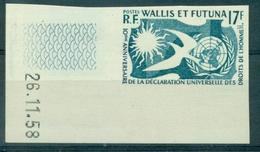 WALLIS ET FUTUNA N° 160 NON DENTELE C De F Daté 26.11.1958 TB Cote + 20 €. - Non Dentelés, épreuves & Variétés