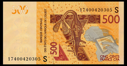 WEST AFRICAN STATES 500 FRANCS 2012/17 GUINEA-BISSAU Pick 919S Unc - Stati Dell'Africa Occidentale