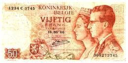 Billet  >  Belgique > 50 Francs 1966 - [ 2] 1831-... : Royaume De Belgique
