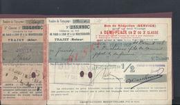 ANCIEN TITRE DE TRANSPORT CHEMINS DE FER DE PARIS A LYON TAMPON JUVISY À PARIS 1910 TAMPON P L M : - Chemins De Fer
