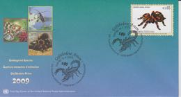 United Nations FDC Mi 591 Endangered Species - Mexican Redknee Tarantula (Brachypelma Smithi) - FDC