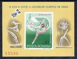 ROMANIA 1980 Olympic Games Block MNH / ** .  Michel Block 172 - Blocks & Kleinbögen