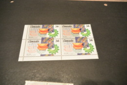 K17722 -stamp In Bloc Of 4  MNh  Canada 1987 - SC. 1134 - Engineering - Nuovi
