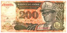 Billet  >  Zaïre > 200 Nouveaux Zaïre 1994 - Zaïre