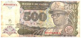 Billet  >  Zaïre > 500 Nouveaux Zaïre 1994 - Zaïre
