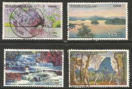 Thailand - 1972 Water Scenes Used  Sc 637-40 - Thailand