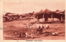 Italia  Storia Postale  Colonie Africa  Cart. Eritrea Hamasien - Case Abissine  Viaggiata - Africa Orientale Italiana