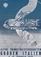 Italy Postcard 1970 World Championship Ski FIS Val Gardena - Greetings From Wax Specialists Holmenkol-Service (DD4-59) - Ski