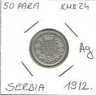 Gh6 Serbia 50 Para 1912. KM#24 Silver Ag Plata Argent - Serbia
