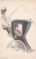 ELEGANTE  Femme Cocher - AVANT 1900  -  Prix Fixe - Illustrateurs & Photographes