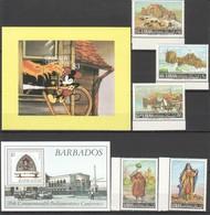 T443 GRENADA GRENADINES BARBADOS LIBAN ART DISNEY CULTURE ARCHITECTURE 1SET+2BL MNH - Other