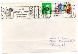 Frontal De Carta Con Matasellos Commemorativo Dia De Castilla La Mancha  1984 - 1931-Hoy: 2ª República - ... Juan Carlos I