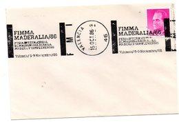 Carta Con Matasellos Commemorativo  Fimma Maderalia 1986 Valencia - 1931-Hoy: 2ª República - ... Juan Carlos I