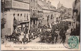 62 LENS - Obsèques De Lautour, Le Cortège Rue De La Gare - Lens