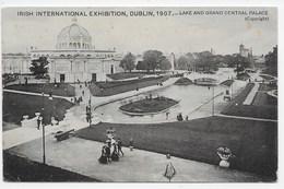 Irish International Exhibition 1907 - Lake And Grand Central Palace - Pmk Single Circle Drogheda - Dublin