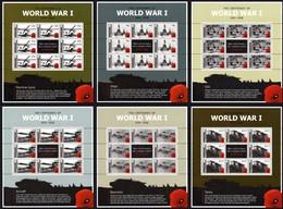 Gibraltar 2015 Micheln° 1669-1674 *** MNH Feuillets Complète  World War I Guerre Du Monde I - Gibraltar
