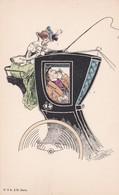 ELEGANTE  Femme Cocher   - Avant 1900  Prix Fixe - Illustrateurs & Photographes
