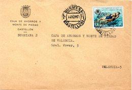 Carta Con Matasellos De Burriana De 1974 - 1931-Hoy: 2ª República - ... Juan Carlos I