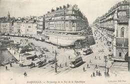 CPA 13 Bouches Du Rhône Marseille Perspective De La Rue De La République - Précurseur - Non Circulée Samaritaine Tramway - Canebière, Centre Ville