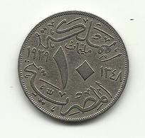 1929 - Egitto 10 Milliemes - Egitto