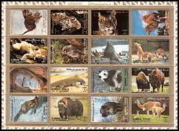 Ajman - 2597/ N° 2829/2844 Animaux Animals Tigre - Tiger Panda... - Big Cats (cats Of Prey)