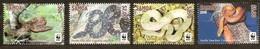 Samoa 2015  Yvertn° 1150-1153 *** MNH Cote 15 Euro Faune WWF Reptiles Slangen Snakes - Samoa