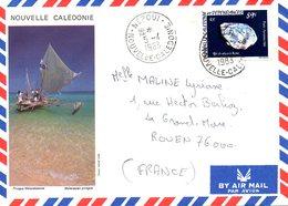 NOUVELLE-CALEDONIE. Enveloppe Illustrée Ayant Circulé En 1983. Pirogue. - Ships