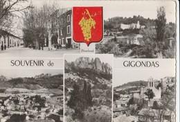 CPSM 84  GIGONDAS SOUVENIR BLASON  MULTIVUES - France