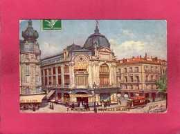 34 Hérault, Montpellier, Les Nouvelles Galeries, Animée, Commerces, Colorisée, 1912, Illustration Signée, (Oilette) - Montpellier