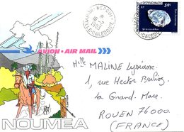 NOUVELLE-CALEDONIE. Enveloppe Illustrée Ayant Circulé En 1983. Cheval. - Nuova Caledonia