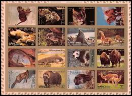 Ajman - 2730/ 2829/44 B Faune TIGRE SINGE PANDA (tiger Monkey Panda...) Non Dentelé ** (imperforate) ** MNH - Big Cats (cats Of Prey)