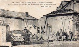 SOUILLY MAISON DÉMOLIE  SEPTEMBRE 1914 - France