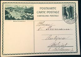 "Schweiz Suisse 1930: Bild-PK / CPI ""BEATENBERG"" Mit Stempel BERN 11.VIII.30 Nach Biberist (SO) - Interi Postali"