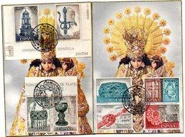 2 Tarjetas  Con Matasellos Commemorativo  Y Serie De Orfebreria. - 1931-Hoy: 2ª República - ... Juan Carlos I