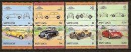 ST LUCIA 1985 Mi 740-47 Pairs** Cars [L 267] - Cars