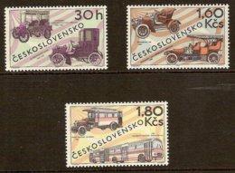 CZECHOSLOVAKIA 1969 Mi 1866-68** Cars, Busses [L 271] - Cars
