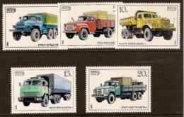 SOVIET UNION 1986 Mi 5630-34** Russian Trucks [L 278] - Trucks