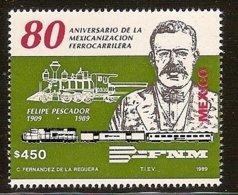 MEXICO 1989 Mi 2155** 80th Anniversary Of Railway Nationalization [L 387] - Trains