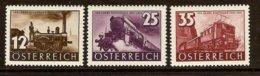 AUSTRIA 1937 Mi 646-48** Centenary Of Railway In Austria [L 388] - Trains
