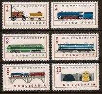 BULGARIA 1964 Mi 1456-61** Railway [L 395] - Trains