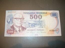 Finland  500 Markkaa 1975 - Finlande