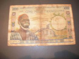 Afrique Dell'Ouest 5000 Francs - Autres - Afrique
